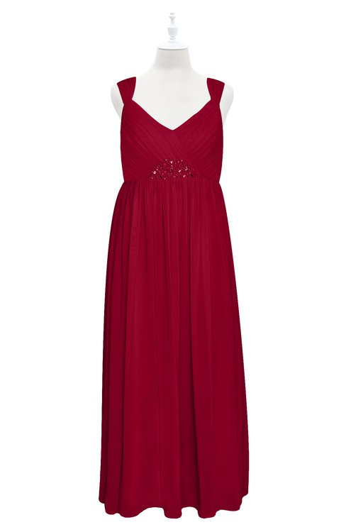 ColsBM Saniyah Scooter Plus Size Bridesmaid Dresses V-neck Floor Length Romantic Sleeveless Paillette Backless