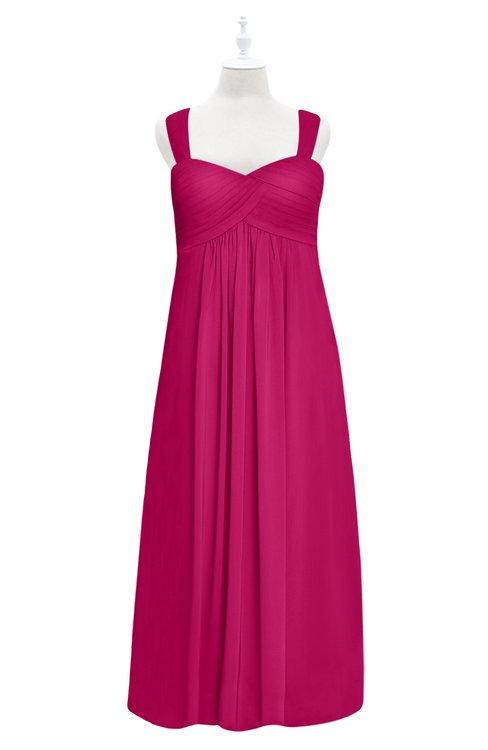 ColsBM Naya Beetroot Purple Plus Size Bridesmaid Dresses A-line Floor Length Zipper Casual Sleeveless Ruching