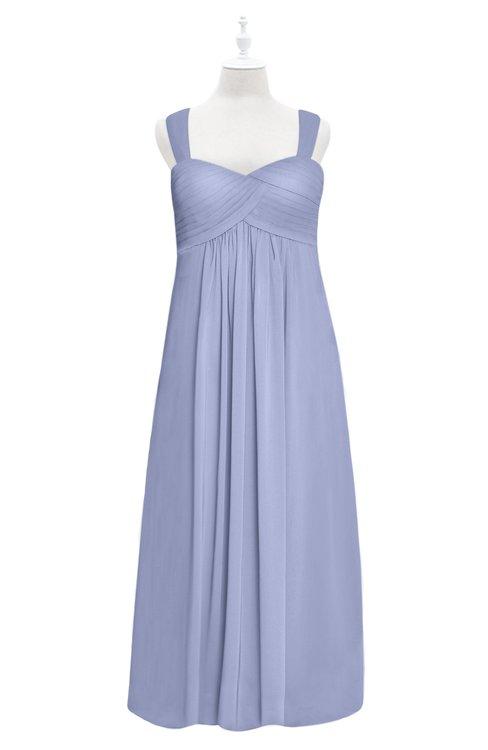 ColsBM Naya Lavender Plus Size Bridesmaid Dresses A-line Floor Length Zipper Casual Sleeveless Ruching