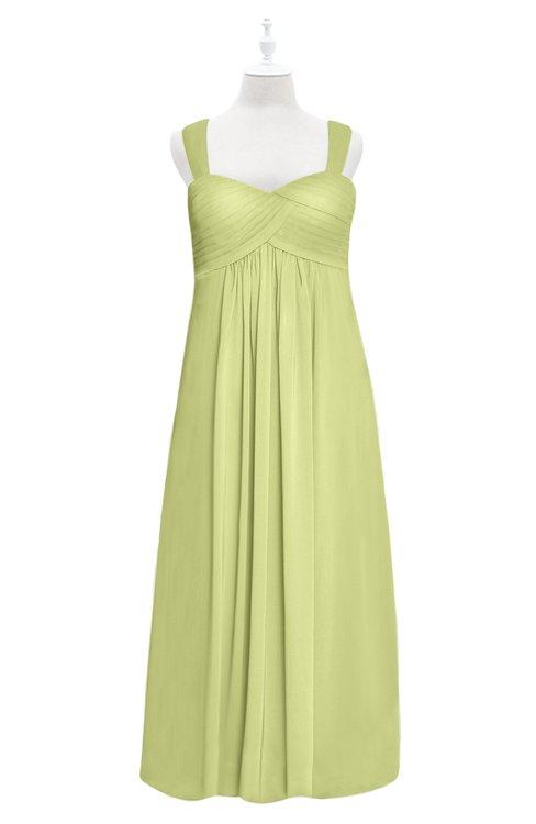 ColsBM Naya Lime Green Plus Size Bridesmaid Dresses A-line Floor Length Zipper Casual Sleeveless Ruching