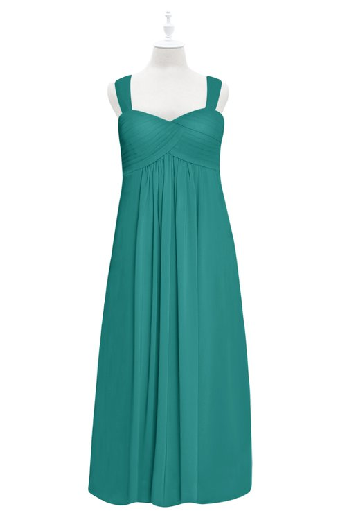 ColsBM Naya Porcelain Plus Size Bridesmaid Dresses A-line Floor Length Zipper Casual Sleeveless Ruching