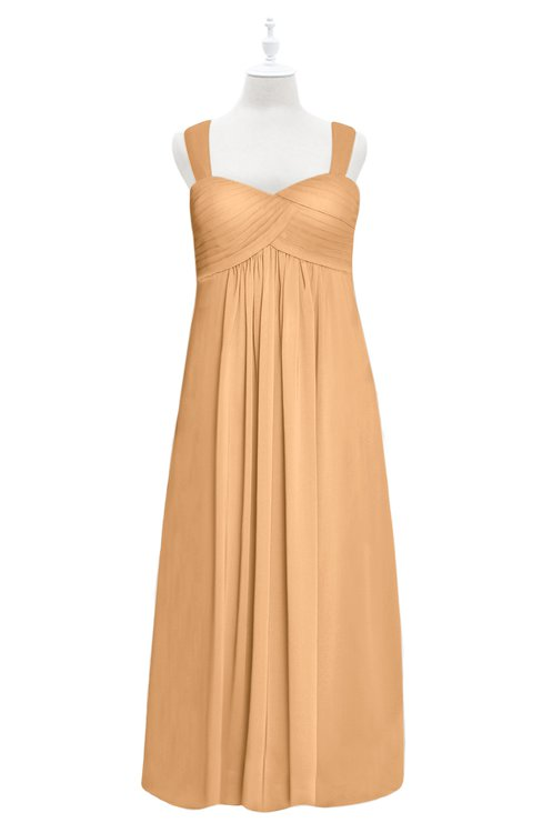 ColsBM Naya Salmon Buff Plus Size Bridesmaid Dresses A-line Floor Length Zipper Casual Sleeveless Ruching