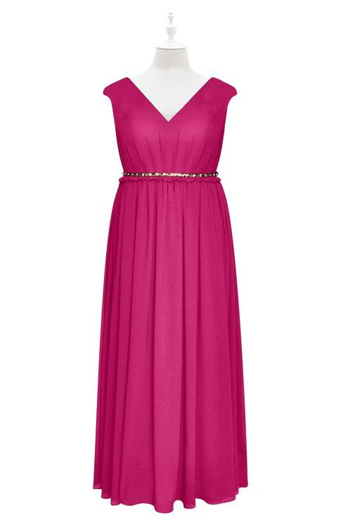 ColsBM Simone Cabaret Plus Size Bridesmaid Dresses Pleated Sleeveless Elegant A-line V-neck Floor Length