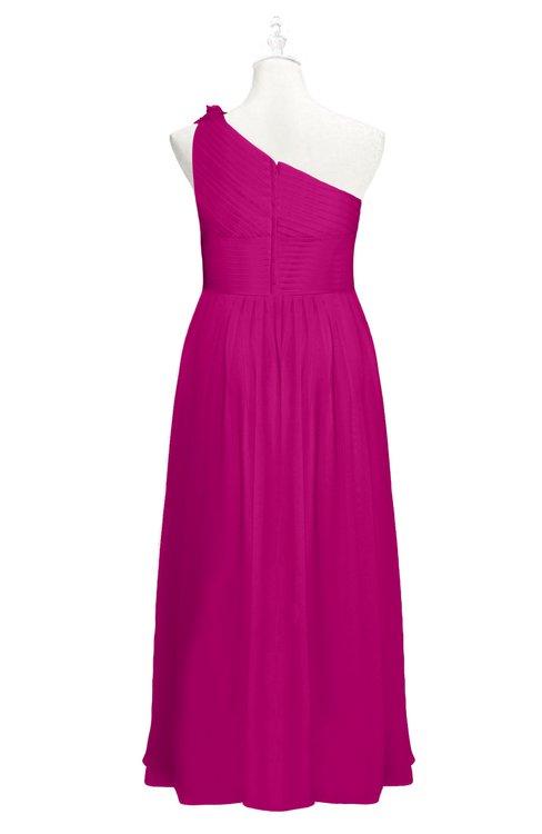 Colsbm Saylor Hot Pink Plus Size Bridesmaid Dresses Colorsbridesmaid
