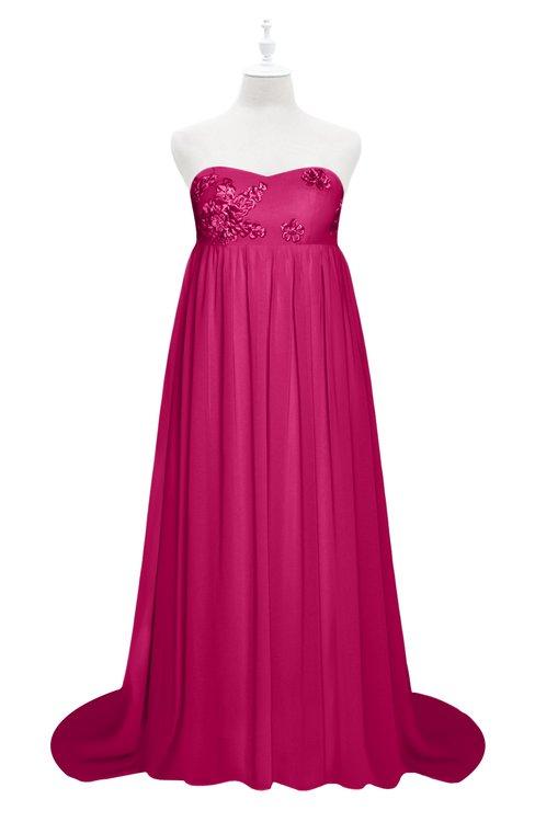 ColsBM Milania Beetroot Purple Plus Size Bridesmaid Dresses Sweetheart Sleeveless Empire Pleated Backless Gorgeous