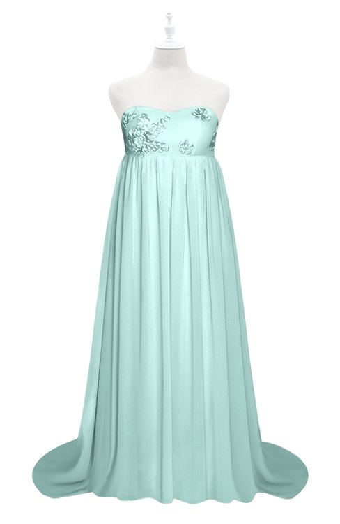ColsBM Milania Blue Glass Plus Size Bridesmaid Dresses Sweetheart Sleeveless Empire Pleated Backless Gorgeous