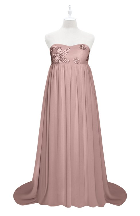 ColsBM Milania Blush Pink Plus Size Bridesmaid Dresses Sweetheart Sleeveless Empire Pleated Backless Gorgeous