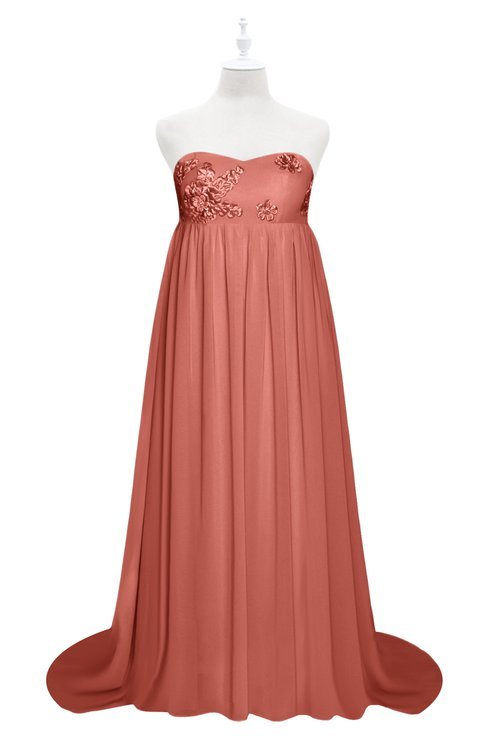 ColsBM Milania Crabapple Plus Size Bridesmaid Dresses Sweetheart Sleeveless Empire Pleated Backless Gorgeous