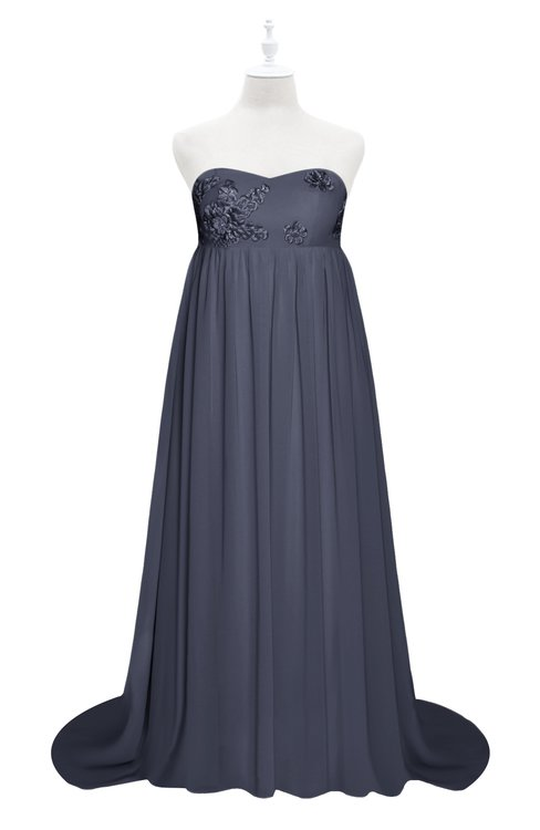 ColsBM Milania Nightshadow Blue Plus Size Bridesmaid Dresses Sweetheart Sleeveless Empire Pleated Backless Gorgeous
