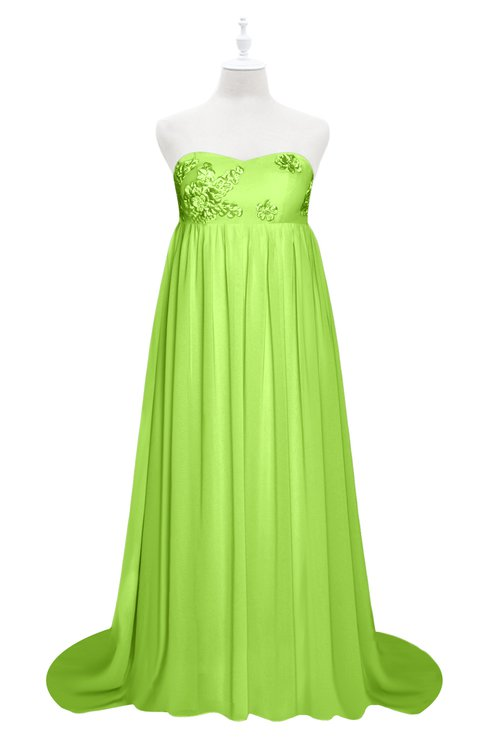 ColsBM Milania Sharp Green Plus Size Bridesmaid Dresses Sweetheart Sleeveless Empire Pleated Backless Gorgeous