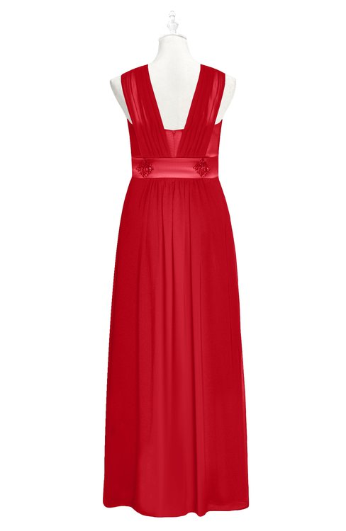 Colsbm Mckinley Red Plus Size Bridesmaid Dresses Colorsbridesmaid