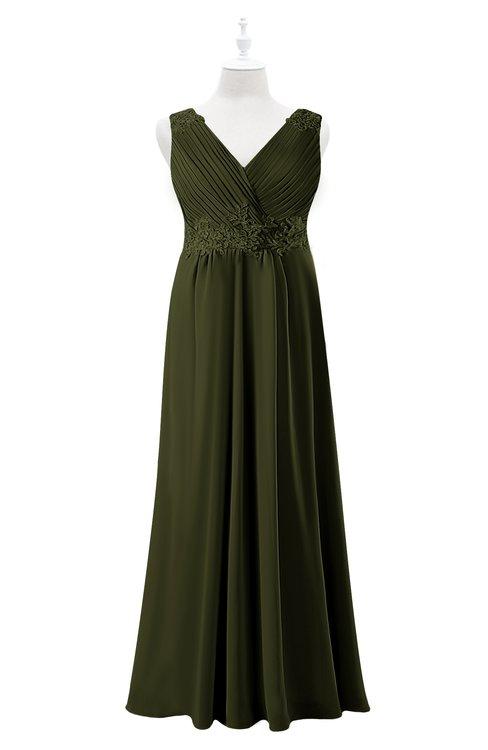 ColsBM Malaysia Beech Plus Size Bridesmaid Dresses Floor Length Sleeveless V-neck Sexy A-line Zipper