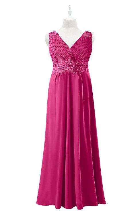 ColsBM Malaysia Cabaret Plus Size Bridesmaid Dresses Floor Length Sleeveless V-neck Sexy A-line Zipper