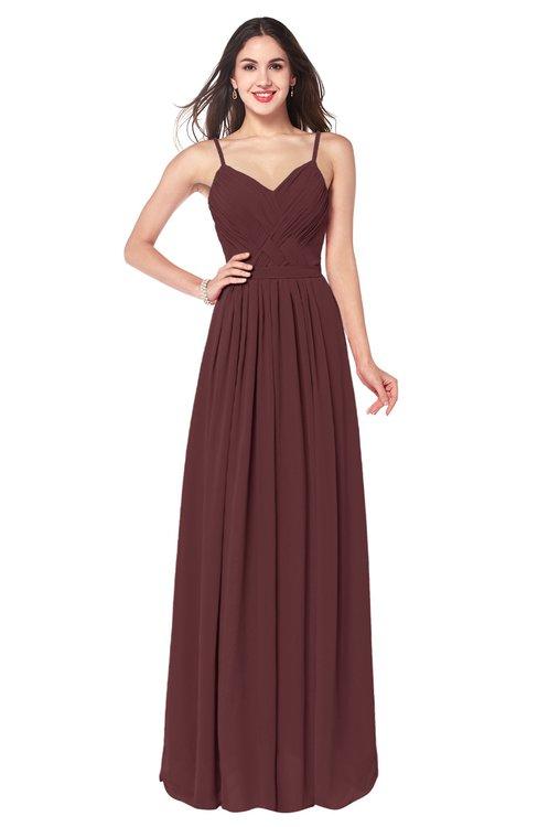 ColsBM Kinley Burgundy Bridesmaid Dresses Sleeveless Sexy Half Backless Pleated A-line Floor Length