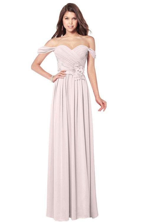 ColsBM Kaolin Angel Wing Bridesmaid Dresses A-line Floor Length Zip up Short Sleeve Appliques Gorgeous