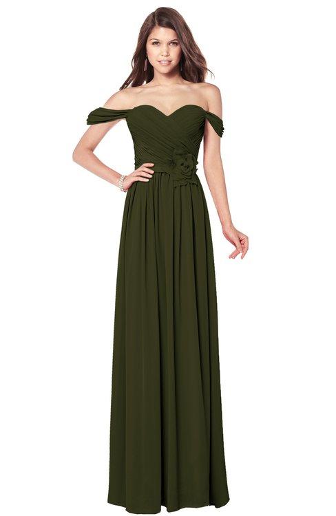ColsBM Kaolin Beech Bridesmaid Dresses A-line Floor Length Zip up Short Sleeve Appliques Gorgeous