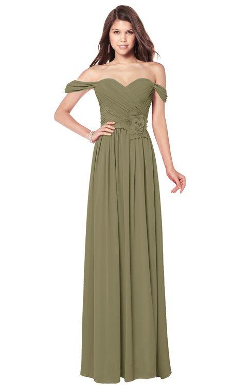 ColsBM Kaolin Boa Bridesmaid Dresses A-line Floor Length Zip up Short Sleeve Appliques Gorgeous