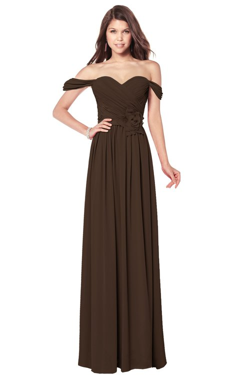 ColsBM Kaolin Copper Bridesmaid Dresses A-line Floor Length Zip up Short Sleeve Appliques Gorgeous