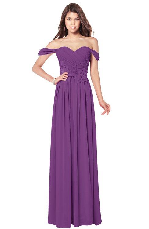 ColsBM Kaolin Dahlia Bridesmaid Dresses A-line Floor Length Zip up Short Sleeve Appliques Gorgeous