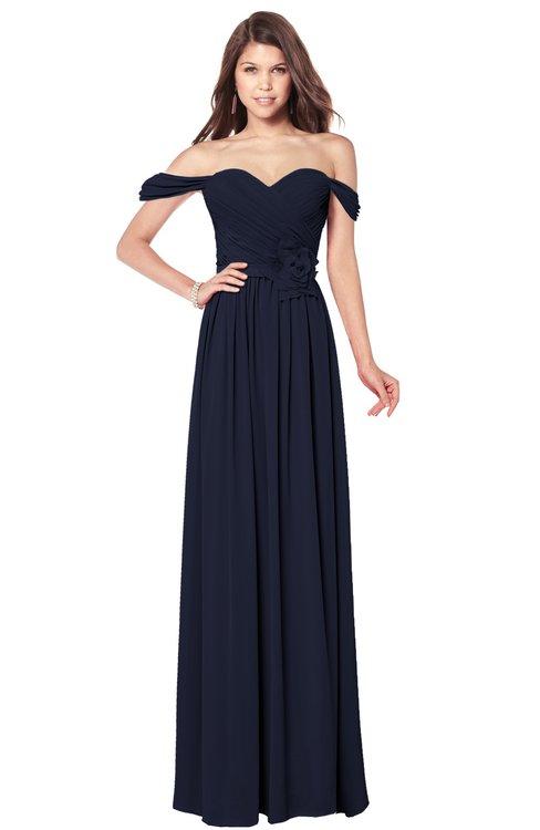 ColsBM Kaolin Dark Sapphire Bridesmaid Dresses A-line Floor Length Zip up Short Sleeve Appliques Gorgeous