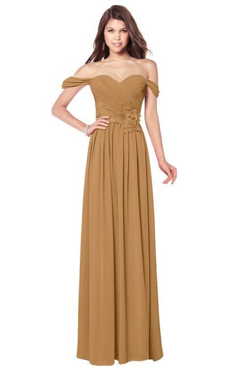 ColsBM Kaolin Doe Bridesmaid Dresses A-line Floor Length Zip up Short Sleeve Appliques Gorgeous
