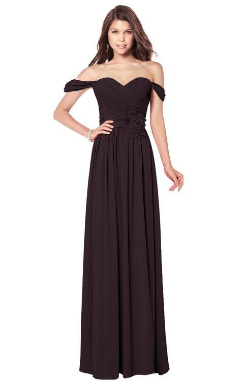 ColsBM Kaolin Italian Plum Bridesmaid Dresses A-line Floor Length Zip up Short Sleeve Appliques Gorgeous