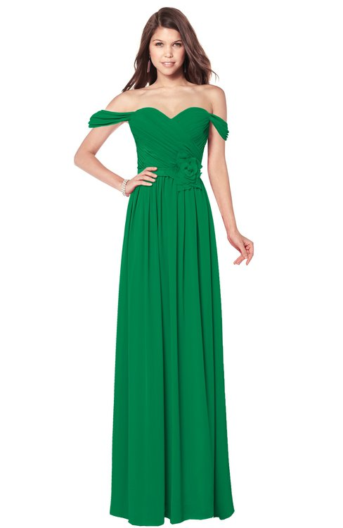 ColsBM Kaolin Jelly Bean Bridesmaid Dresses A-line Floor Length Zip up Short Sleeve Appliques Gorgeous