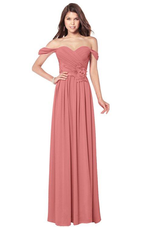 ColsBM Kaolin Lantana Bridesmaid Dresses A-line Floor Length Zip up Short Sleeve Appliques Gorgeous