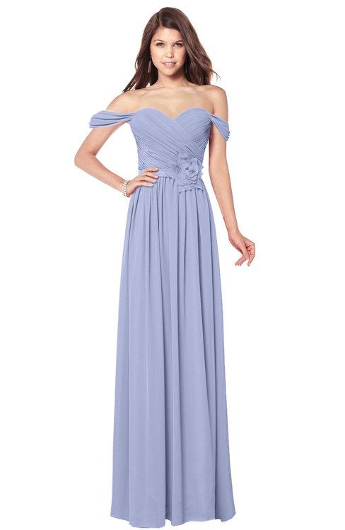 ColsBM Kaolin Lavender Bridesmaid Dresses A-line Floor Length Zip up Short Sleeve Appliques Gorgeous