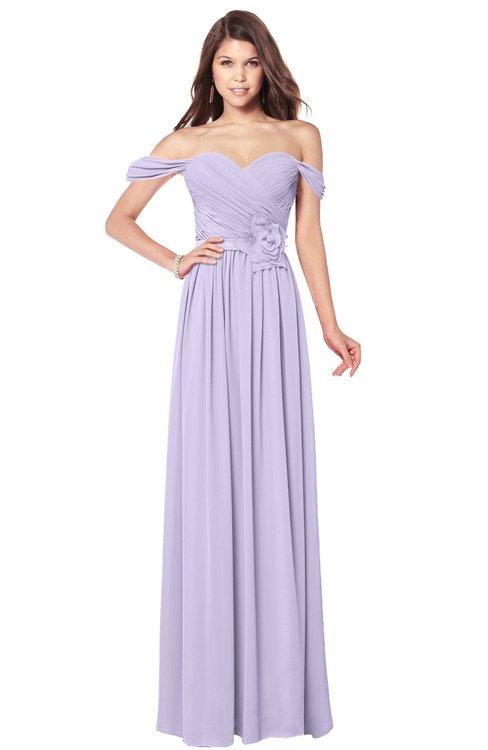 ColsBM Kaolin Light Purple Bridesmaid Dresses A-line Floor Length Zip up Short Sleeve Appliques Gorgeous