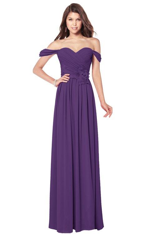ColsBM Kaolin Pansy Bridesmaid Dresses A-line Floor Length Zip up Short Sleeve Appliques Gorgeous