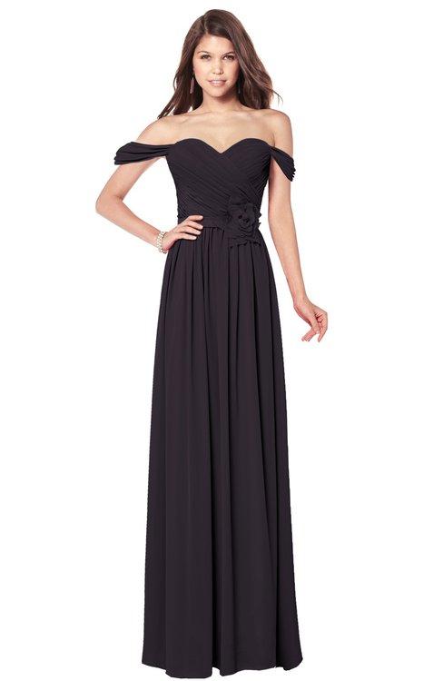 ColsBM Kaolin Perfect Plum Bridesmaid Dresses A-line Floor Length Zip up Short Sleeve Appliques Gorgeous