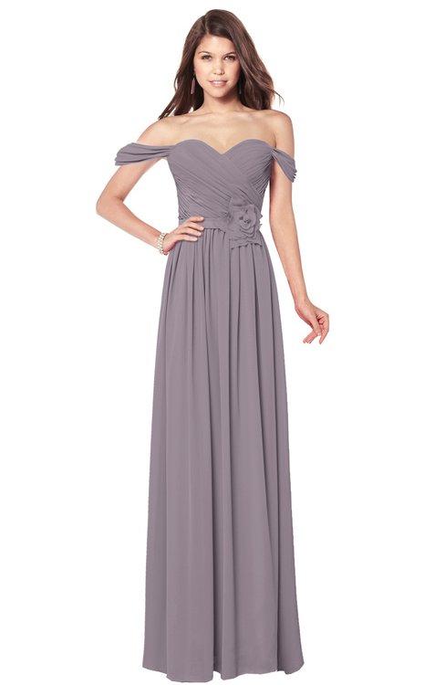 ColsBM Kaolin Sea Fog Bridesmaid Dresses A-line Floor Length Zip up Short Sleeve Appliques Gorgeous