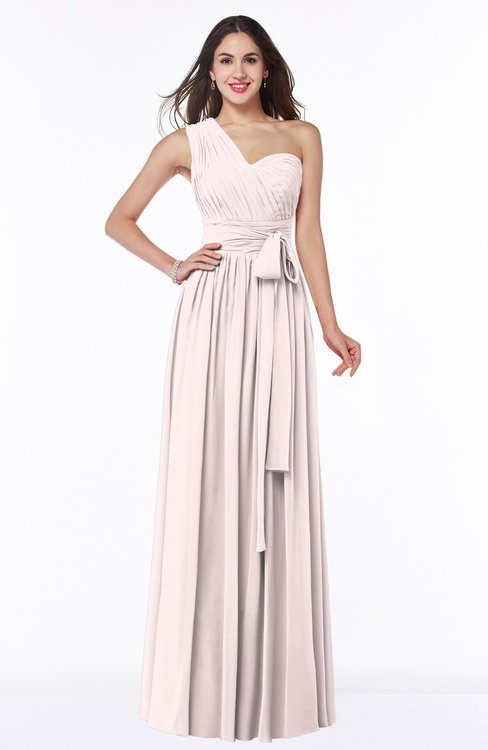 ColsBM Emmeline Angel Wing Modern A-line Half Backless Chiffon Floor Length Ruching Plus Size Bridesmaid Dresses