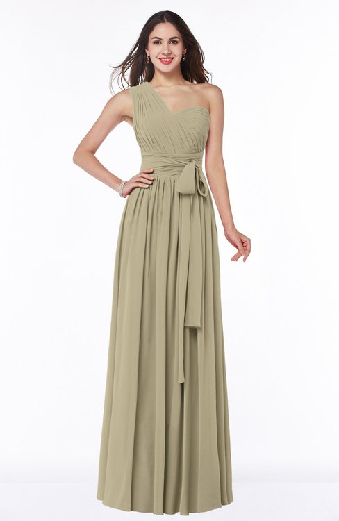 ColsBM Emmeline Candied Ginger Modern A-line Half Backless Chiffon Floor Length Ruching Plus Size Bridesmaid Dresses