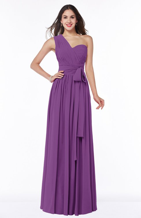 ColsBM Emmeline Dahlia Modern A-line Half Backless Chiffon Floor Length Ruching Plus Size Bridesmaid Dresses