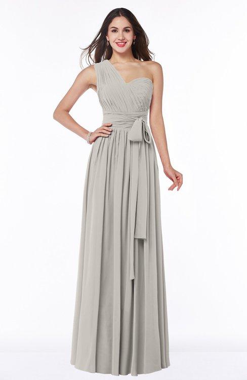 ColsBM Emmeline Hushed Violet Modern A-line Half Backless Chiffon Floor Length Ruching Plus Size Bridesmaid Dresses