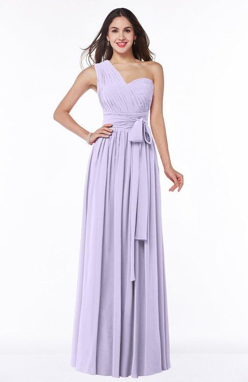 ColsBM Emmeline Pastel Lilac Modern A-line Half Backless Chiffon Floor Length Ruching Plus Size Bridesmaid Dresses