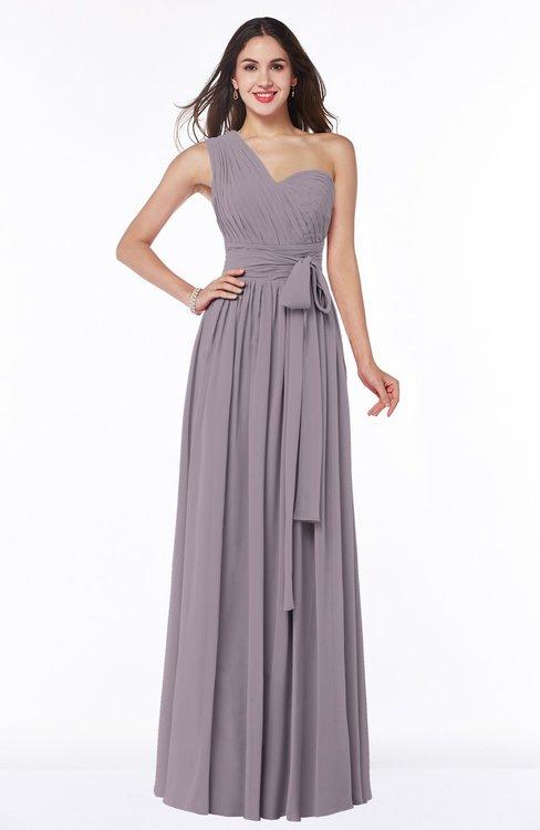 ColsBM Emmeline Sea Fog Modern A-line Half Backless Chiffon Floor Length Ruching Plus Size Bridesmaid Dresses