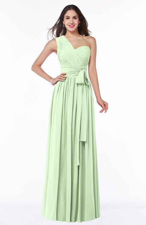 ColsBM Emmeline Seacrest Modern A-line Half Backless Chiffon Floor Length Ruching Plus Size Bridesmaid Dresses