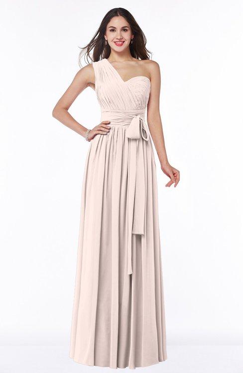 ColsBM Emmeline Silver Peony Modern A-line Half Backless Chiffon Floor Length Ruching Plus Size Bridesmaid Dresses