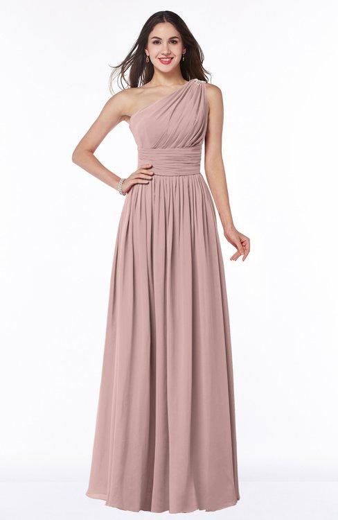 ColsBM Nova Bridal Rose Modern A-line Asymmetric Neckline Sleeveless Half Backless Chiffon Plus Size Bridesmaid Dresses