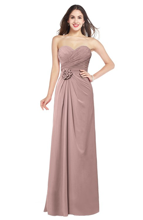 ColsBM Josie Blush Pink Glamorous Sweetheart Sleeveless Zip up Flower Plus Size Bridesmaid Dresses