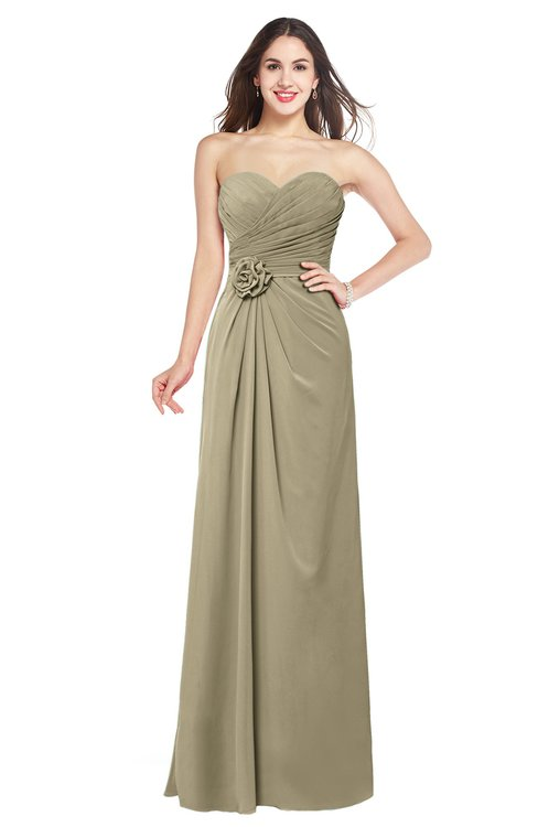 ColsBM Josie Candied Ginger Glamorous Sweetheart Sleeveless Zip up Flower Plus Size Bridesmaid Dresses