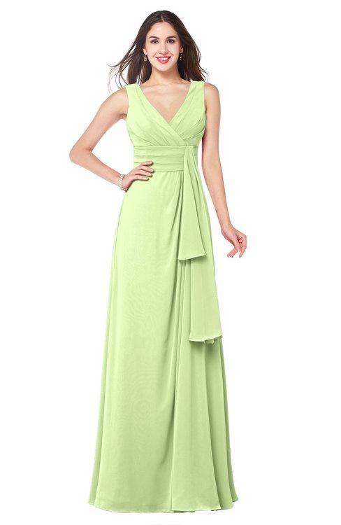 ColsBM Brenda Butterfly Romantic Thick Straps Sleeveless Zipper Floor Length Sash Plus Size Bridesmaid Dresses
