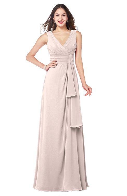 ColsBM Brenda Silver Peony Romantic Thick Straps Sleeveless Zipper Floor Length Sash Plus Size Bridesmaid Dresses