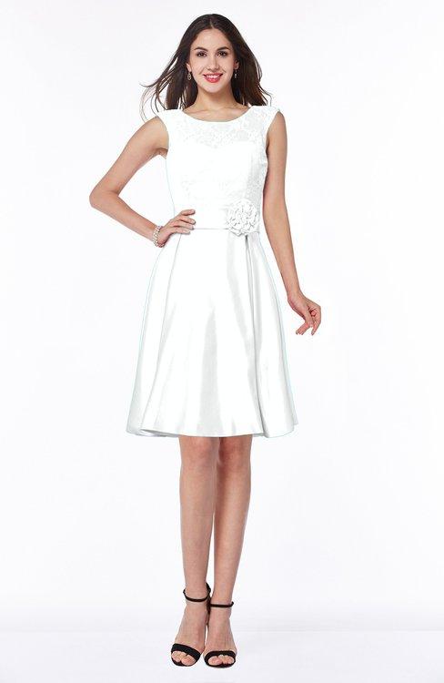ColsBM Delilah Cloud White Informal A-line Jewel Sleeveless Sash Plus Size Bridesmaid Dresses