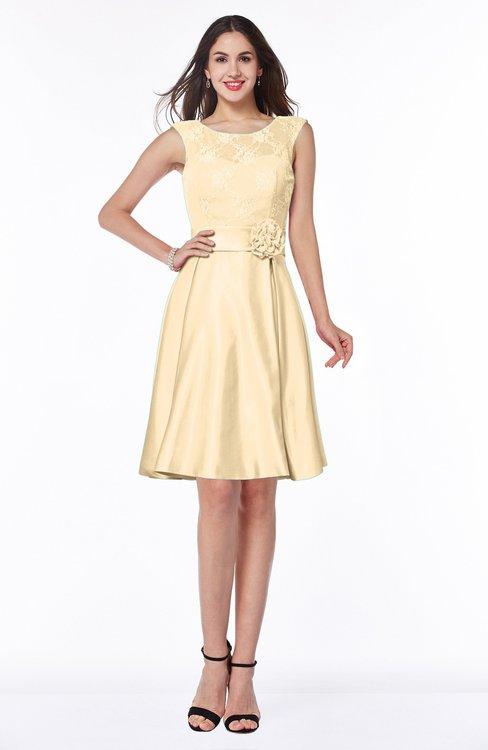 ColsBM Delilah Cornhusk Informal A-line Jewel Sleeveless Sash Plus Size Bridesmaid Dresses
