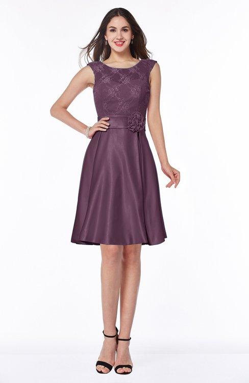 ColsBM Delilah Plum Informal A-line Jewel Sleeveless Sash Plus Size Bridesmaid Dresses