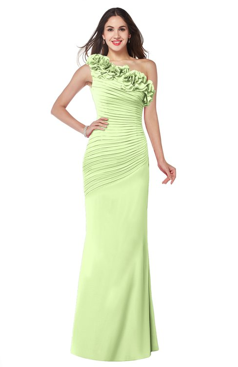 ColsBM Lisa Butterfly Sexy Fit-n-Flare Sleeveless Half Backless Chiffon Flower Plus Size Bridesmaid Dresses